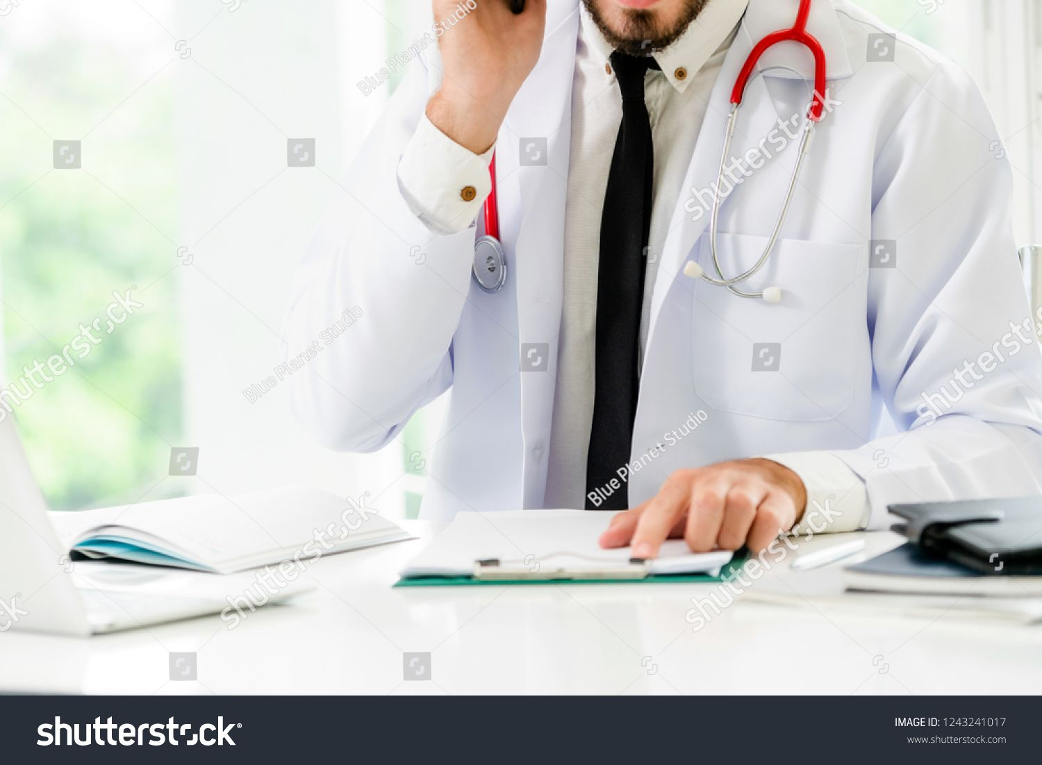 Doctor At Office Table In The Hospital With Patient Health File Medical And Healthcare Concept Ad Ad Hospital Pati In 2020 Doctor Office Hospital Photo Editing