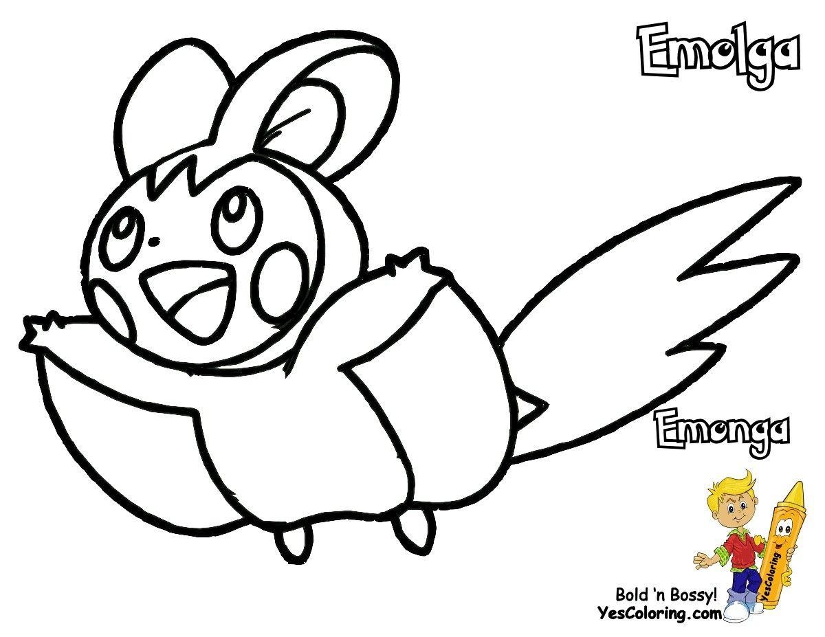 Pokemon Kleurplaten Emolga.Pokemon Coloring Pages Emolga Through The Thousands Of Images On