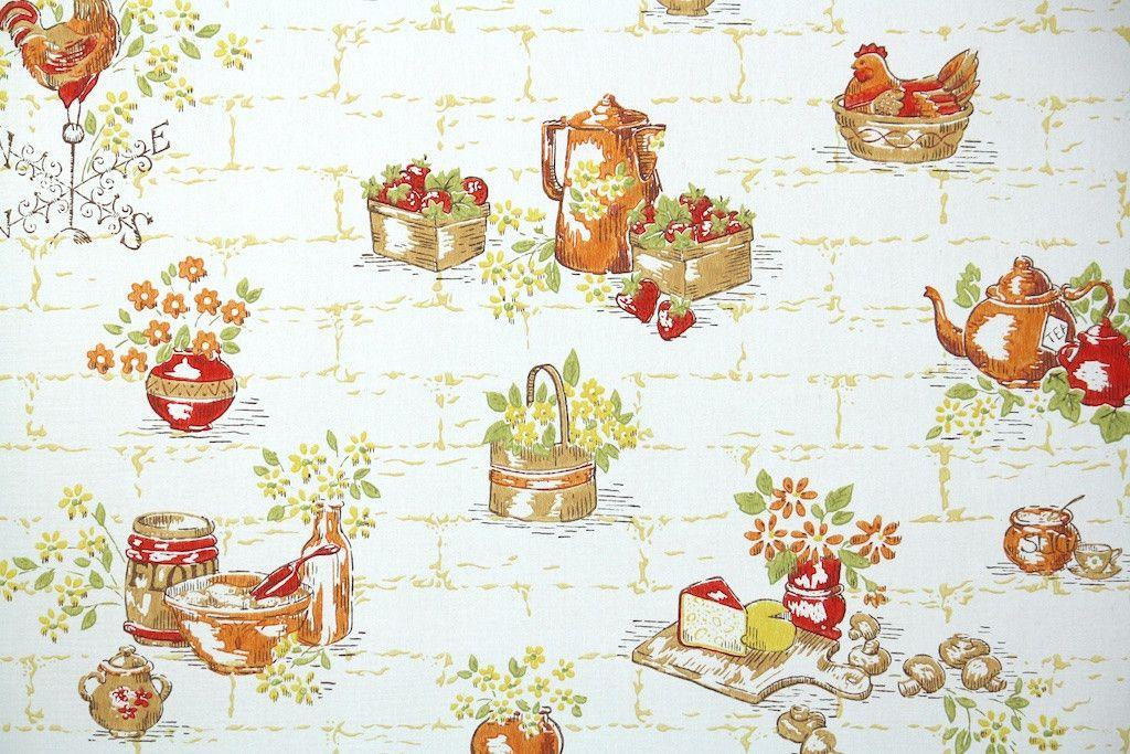 1960s Kitchen Vintage Wallpaper Vintage Wallpaper Patterns