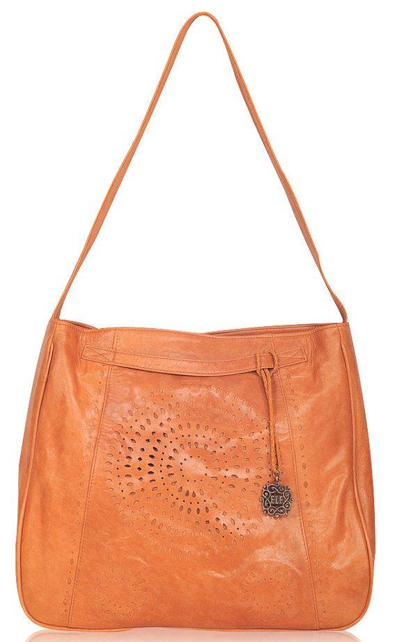 SUNKISSED. Leather shoulder bag / shoulder bag / tote by BaliELF