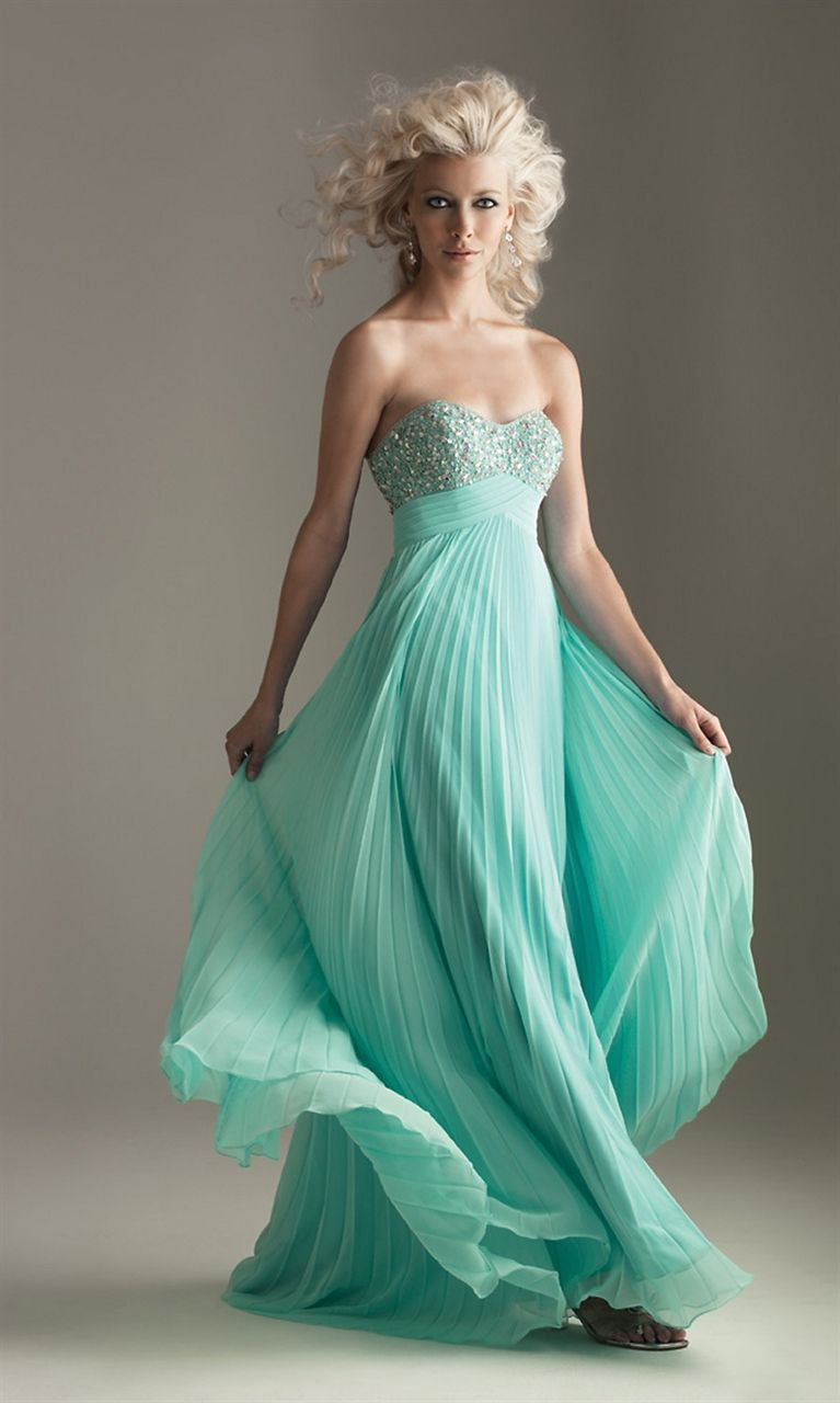 Strapless Pleated Prom Dress, Pleated Chiffon Dress | Clothes ...
