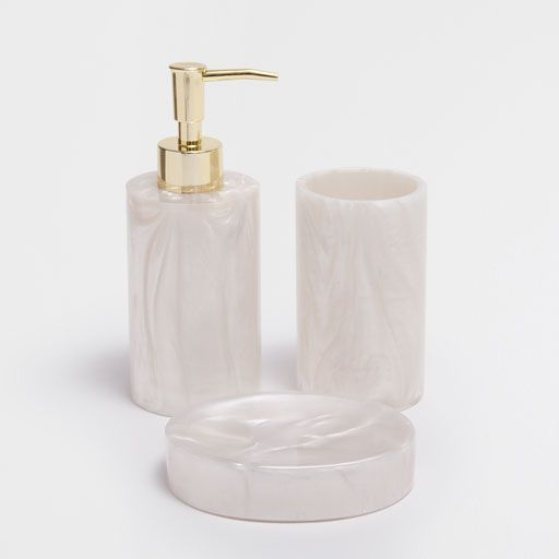 Stone Effect Bathroom Set Bathroom Sets Bathroom Soap Dispenser Bath Accessories Set
