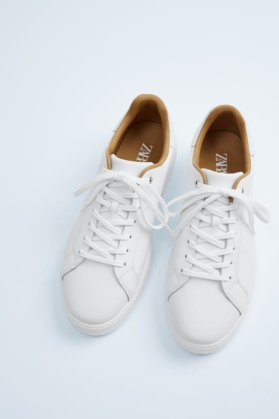 White leather sneakers with contrast