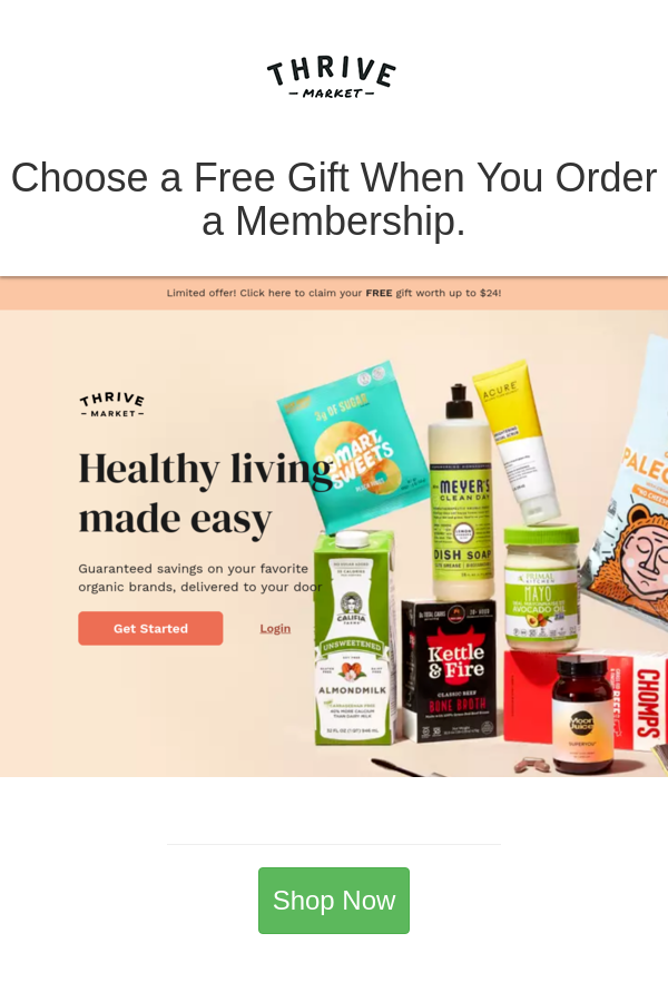 Best Deals And Coupons For Thrive Market In 2021 Thrive Market Organic Brand Thrive