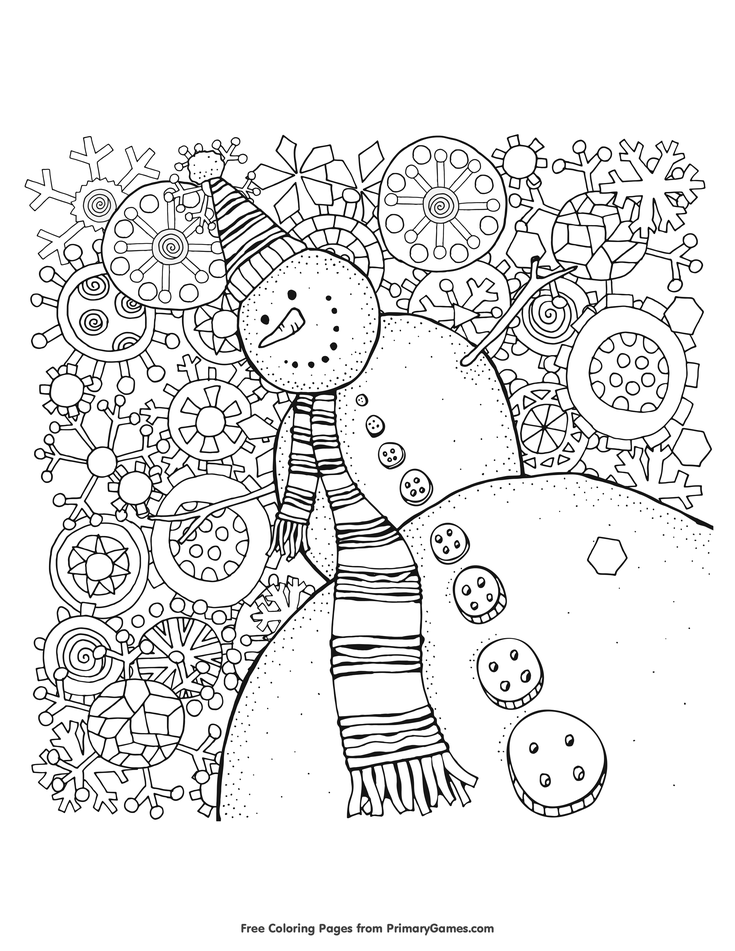 Free Printable Winter Coloring Pages For Use In Your Classroom And Home From PrimaryGames