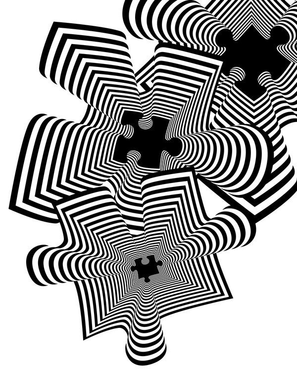 Black And White Design trippy black and white design found on www.duuude | sweeeet