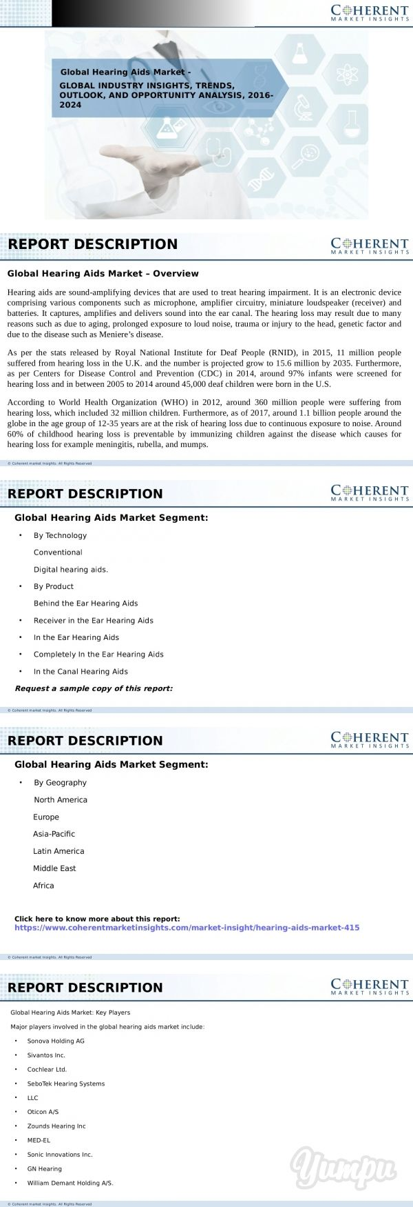 Global Hearing Aids Market - Magazine with 9 pages: