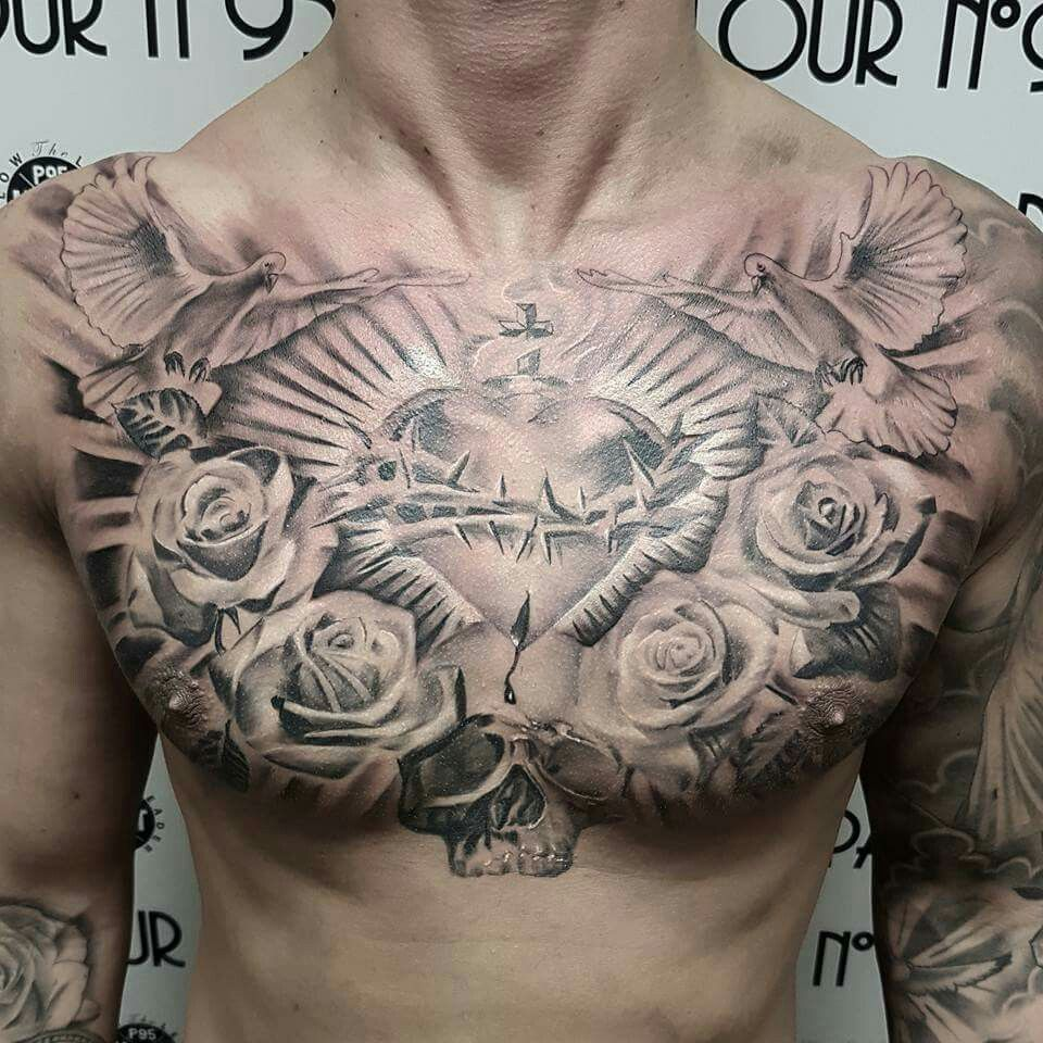 chest tattoo men Google Search Tattoos for guys, Chest
