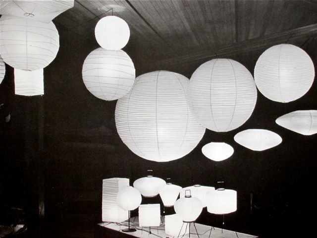 A grouping of akari pendants and akari floor lamps all by isamu noguchi probably a good idea for anays room can buy directly from the noguchi museum