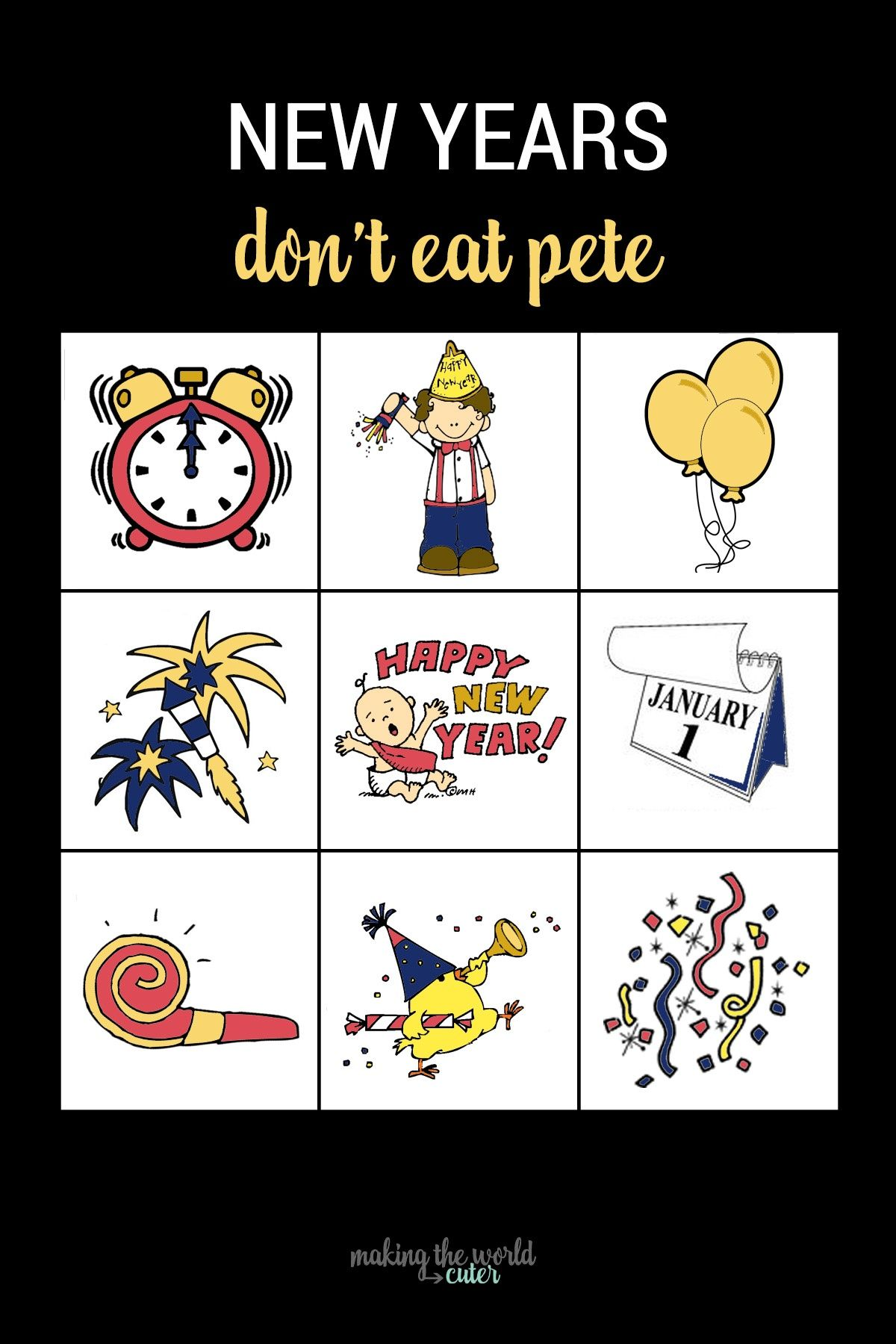 Don't Eat Pete New Years Eve Game   New years eve games ...
