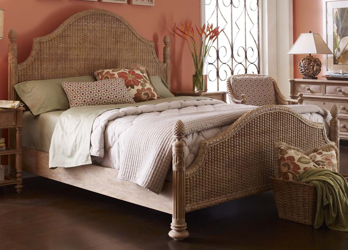The Palm Island Collection Guesthouse Queen Woven Bed By FFDM Fine Furniture