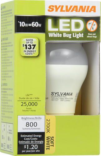 Sylvania 10 Watt A19 Bug Light Led Light Bulb At Menards With Images Led Lights Sylvania Led Light Bulb