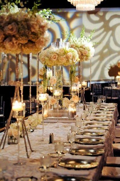 Ideas para centros de mesa altos para bodas fiesta for Arboles altos para jardin