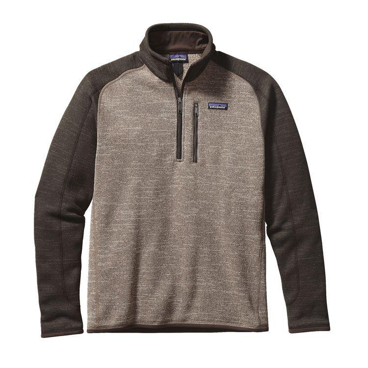Men's Better Sweater® 1/4-Zip Fleece | Dark walnut, Khakis and Zip