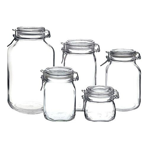 Bormioli Rocco Fido Hermetic 5 Piece Jar Set