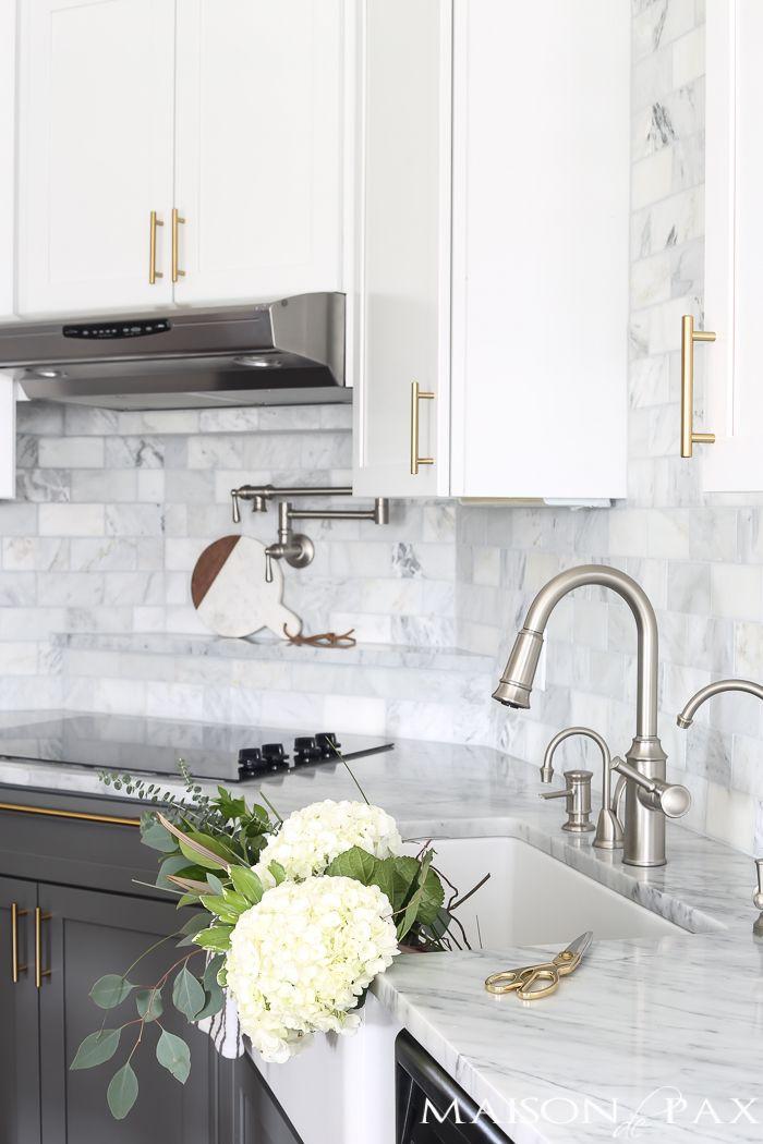 Dark Kitchen Cabinets With Gold Hardware