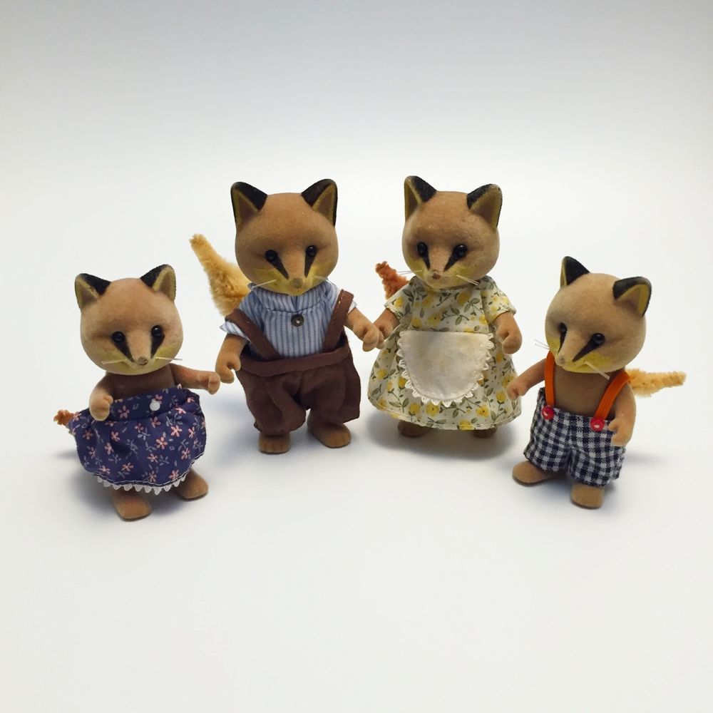 Sylvanian Families Renard Fox Family Figures Retired Flair Issue ...