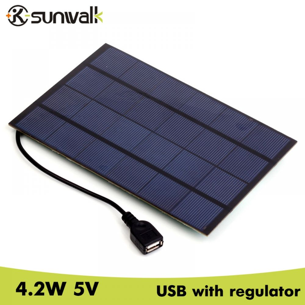 Sunwalk 4 2w 5v Solar Panel Battery Charger With Voltage Stabilize Usb Output 660mah Monocrystalline Solar Charger For Phone Www Ulp4u Com Solar Panel Battery Solar Panel Charger Solar Charger
