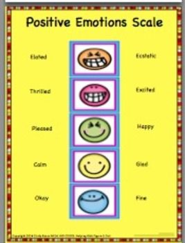 Emotions Scales and Activities || Positive & Negative Scales