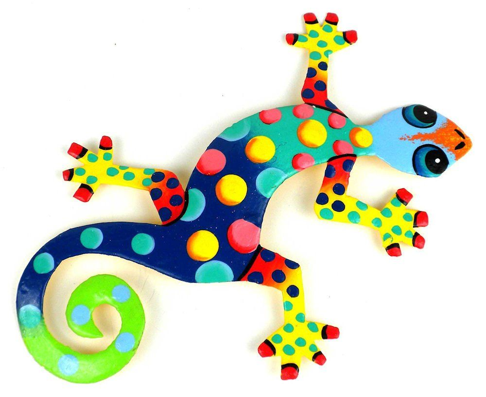 Hand painted florida gecko