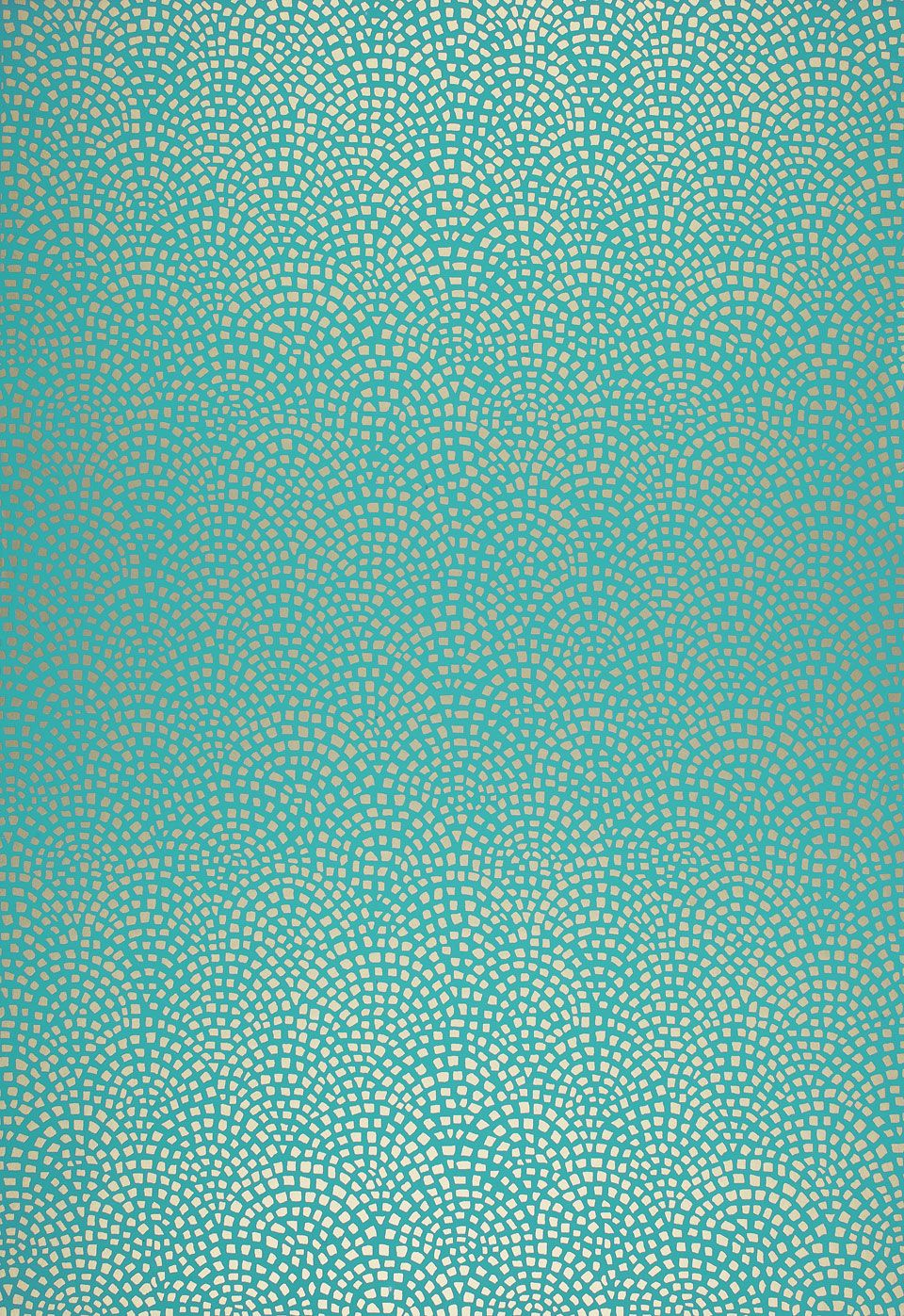 Mosiac aqua wallpaper from schumacher this geometric for Salon turquoise