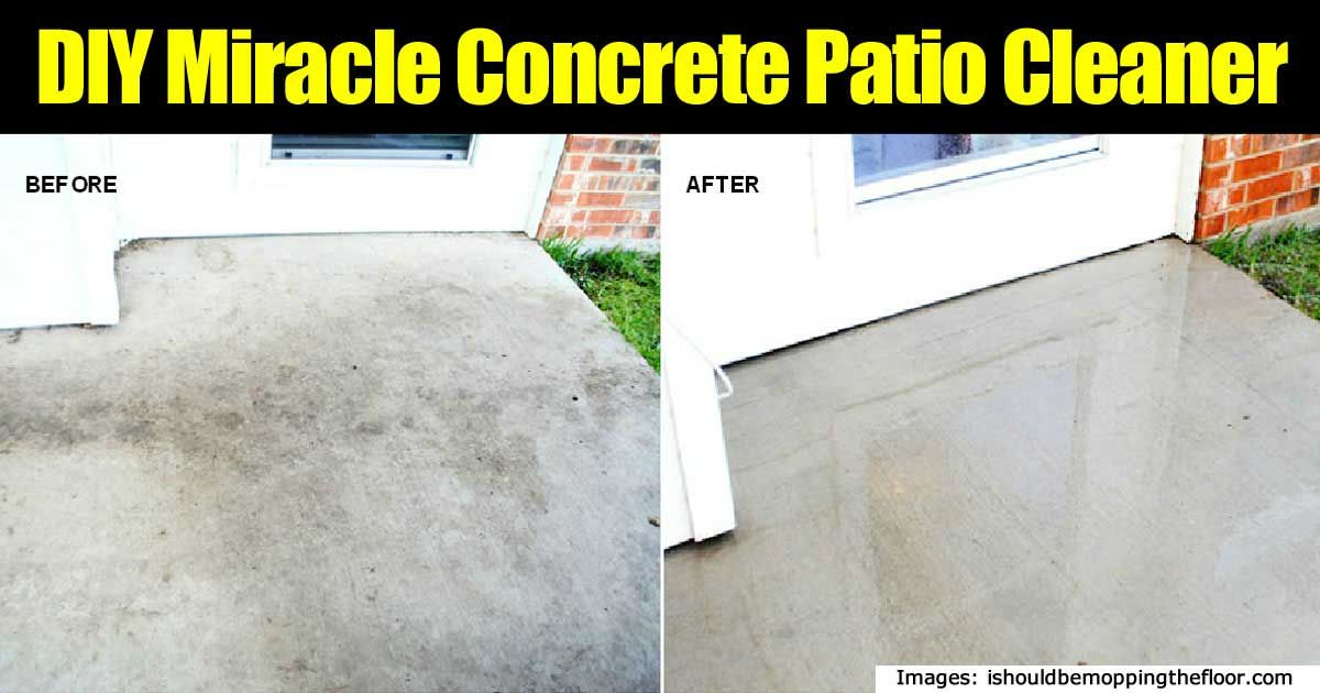 cleaning concrete patios