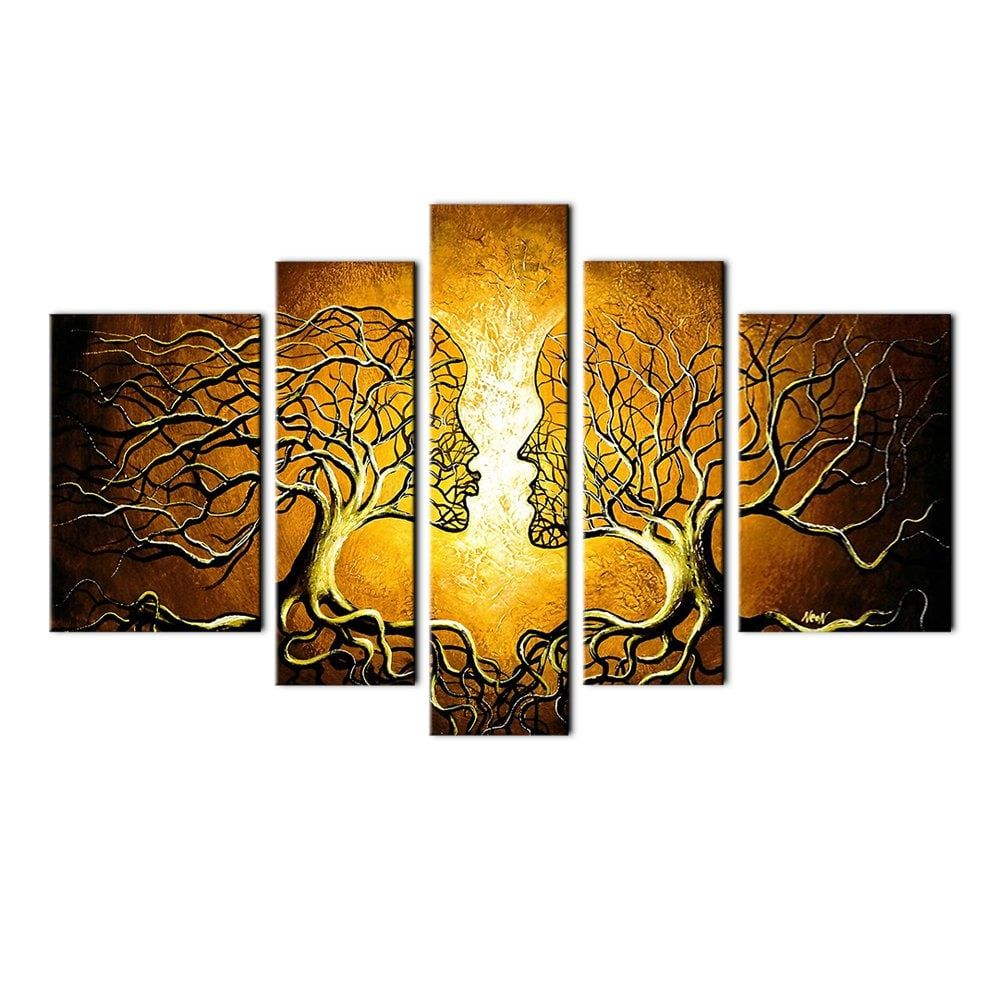 YHHP Love Tree Canvas Print for Home Decoration 5PCS | Tree canvas ...