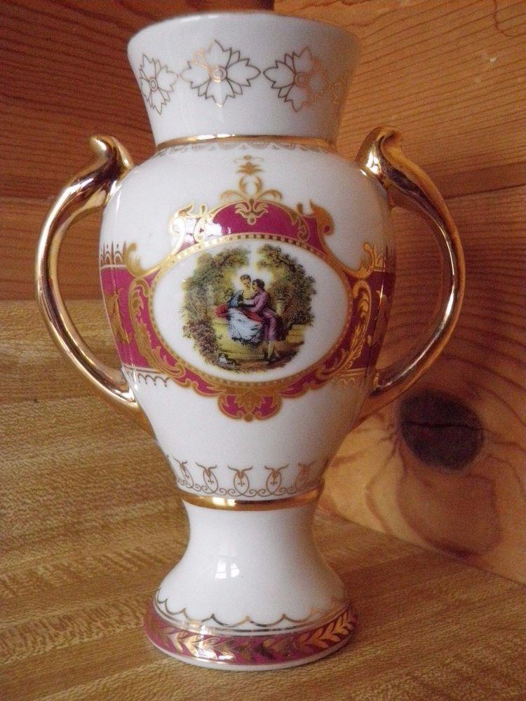 Decorative Urns Vases Glamorous Vintage Victorian Queen Ann Style Porcelain Decorative Gold Decorating Inspiration