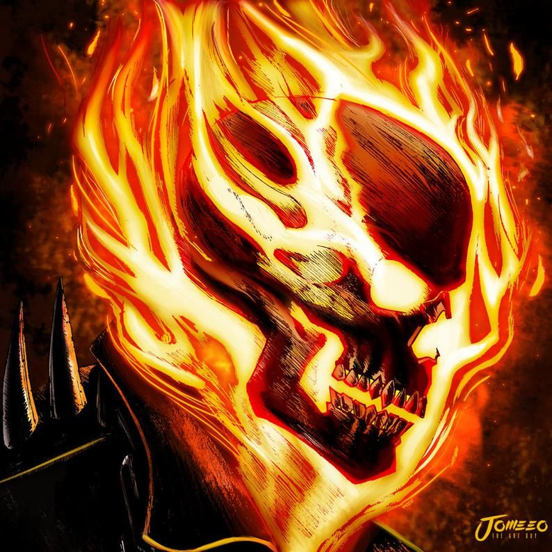 Ghost Rider Speed Paint Photoshop - YouTube  |Ghost Rider Digital Painting Photoshop