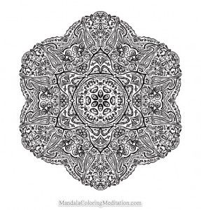 advanced mandala coloring page  Free Printable Mandala Coloring