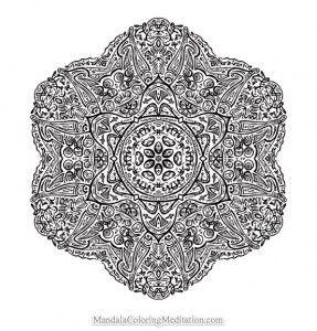 advanced mandala coloring pages printable - photo#10