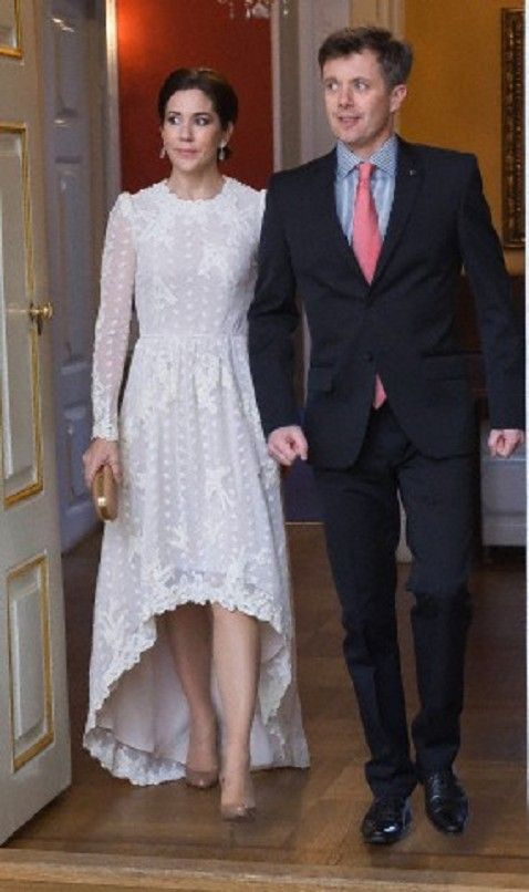 Crown Princess Mary and Crown Prince Frederik in a dinner at Moltke's Palace in Copenhagen on 5 April 2013