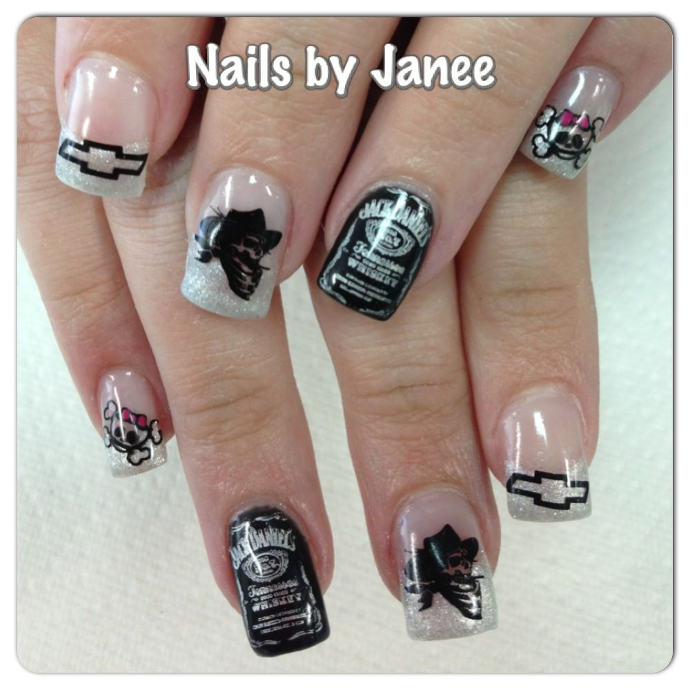 Jack Daniels Nails www.awildhairsalonreno.com | Nails by Janee at A ...