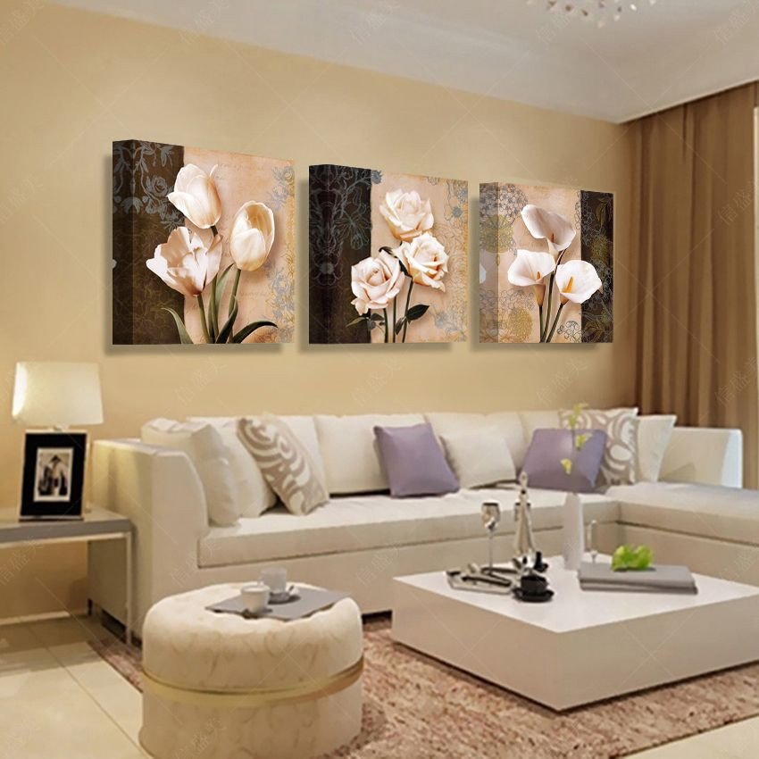 3 Panel Modern Picture Paintings Wall Pictures Abstract Art Oil Painting Elegant Living Room Living Room Pictures Living Room Decor Apartment Painting for living room ideas