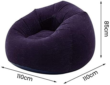 JSBHS Large Lazy Inflatable Sofa Chair PVC Recliner Beanbag Sofa Cushion Stool Tatami Living Room (Color