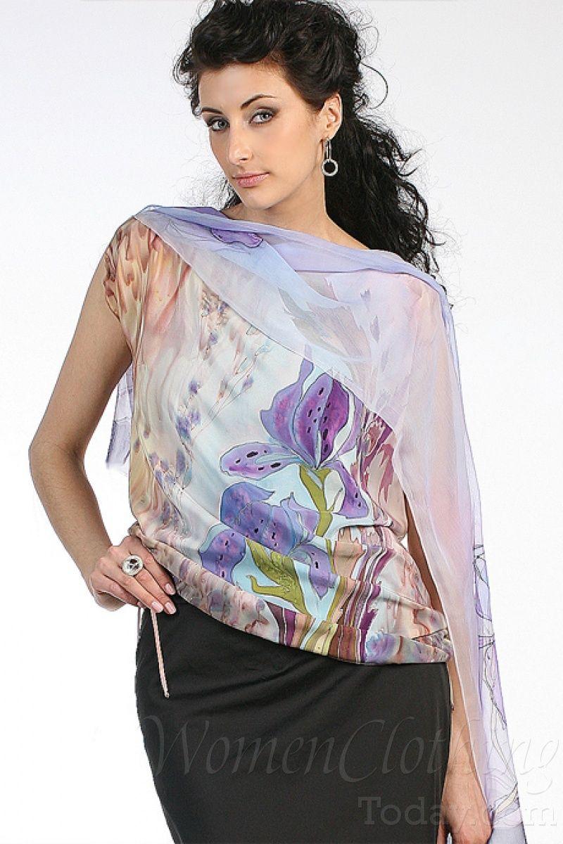 womenclothingtoday.com Silk Blouse The Morning of Iris