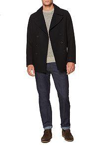Naval pea coat