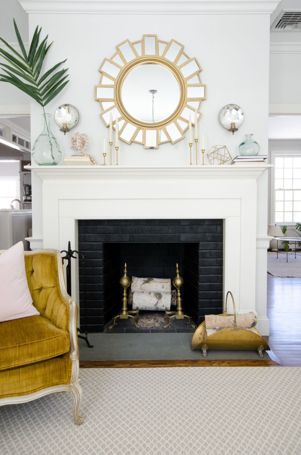 Spring Decorating - Living Room and Guest Room | Mantle ideas ...