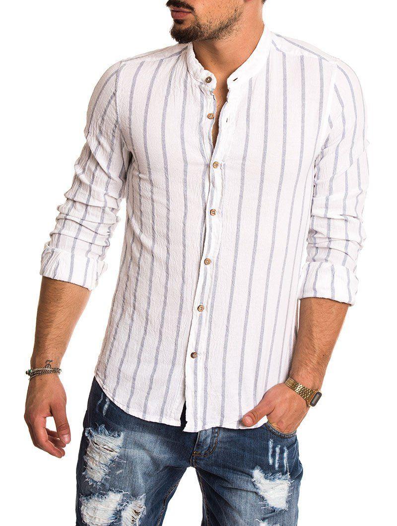 striped Mens linen and white shirt Pinterest fashion Blue gwxf1qC6nW