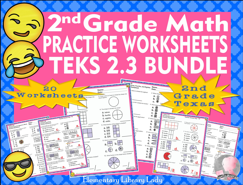 Math Teks Bundle 2 3 A D Texas 1st Grade 20 Practice