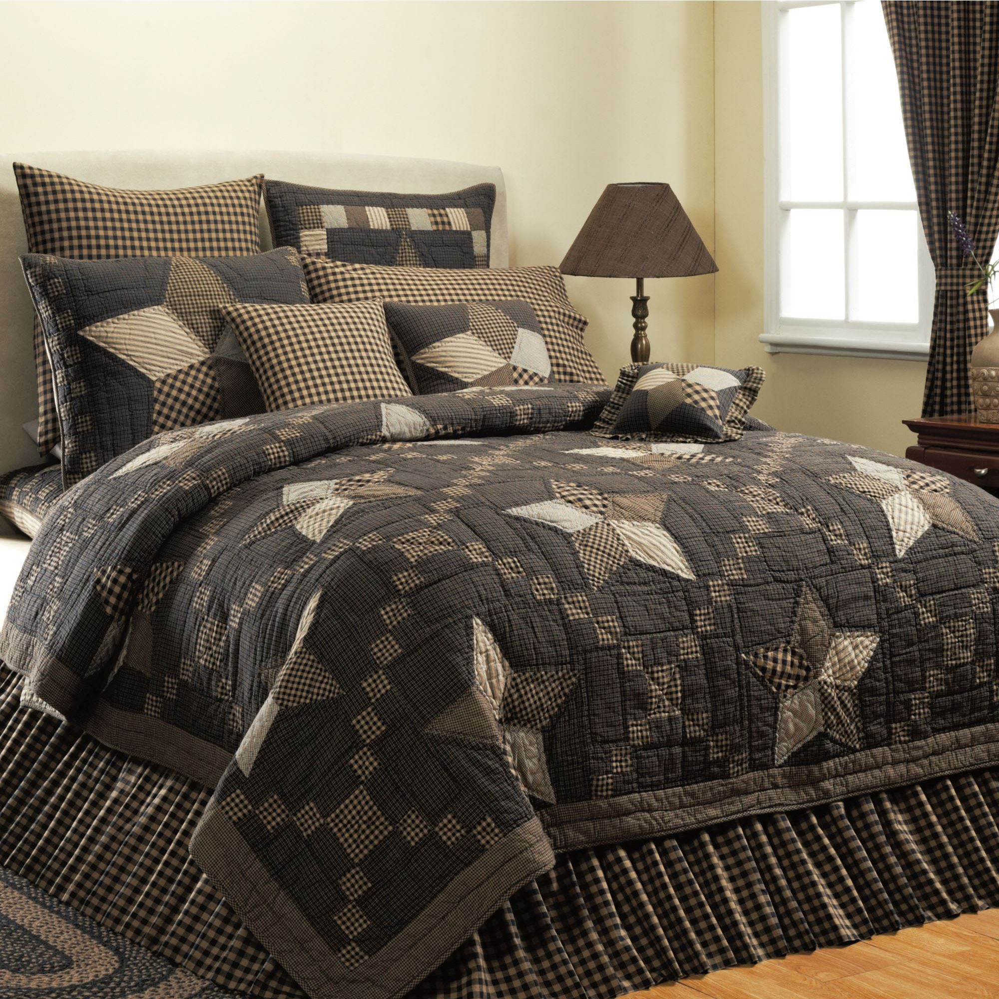 shabby chic black bear cabin comforter comforters lauren bedding rustic beds sets clearance conrad