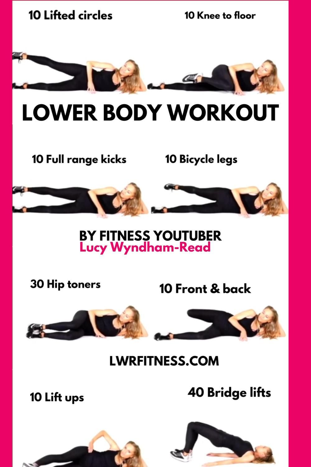 LOWER BODY WORKOUT AT HOME – effective lower body exercises for legs and glutes at home.
