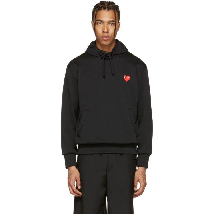 Comme Des Garcons Play Black Heart Patch Hoodie Black Heart Patch Play Clothing Clothes Design