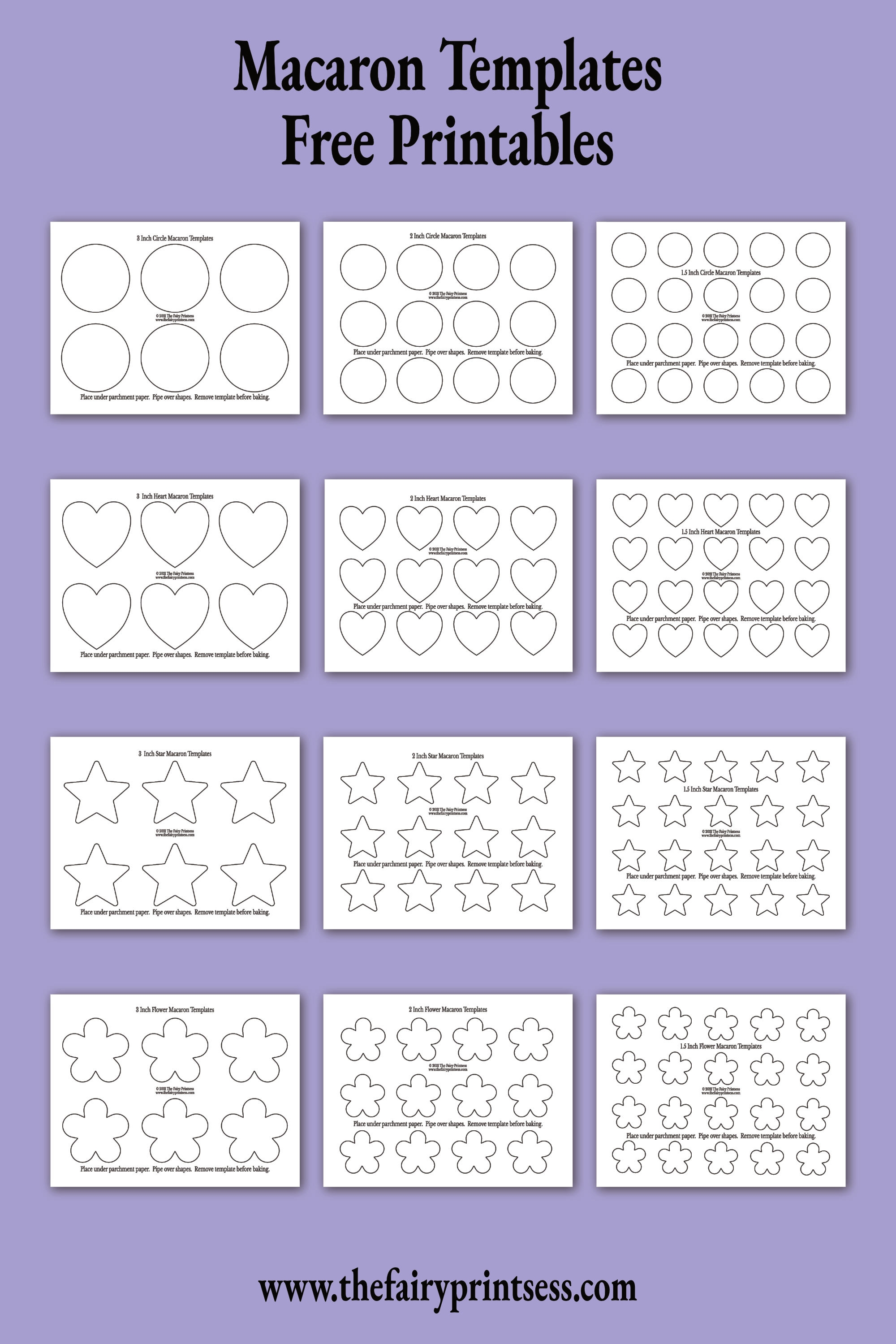Vintage French Valentine Heart Banners Free Printable In 2021 Macaron Template Templates Printable Free Macaroon Template