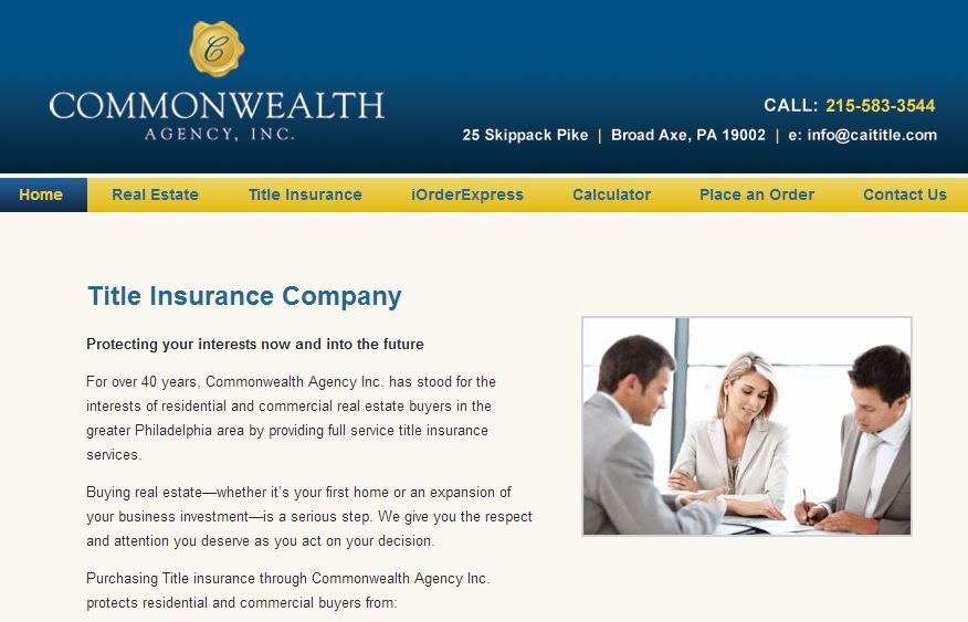 Commonwealth Title Companies Philadelphia Title Search