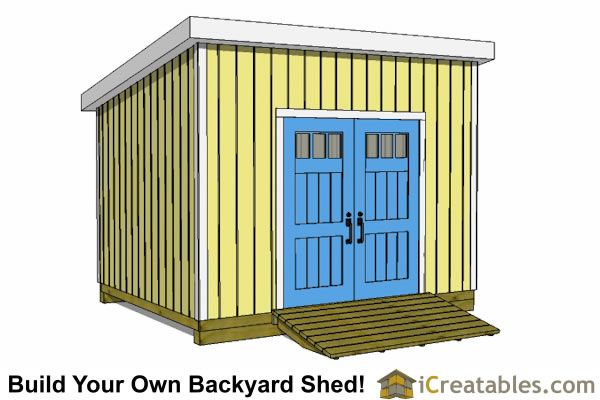 10x12 Lean To Shed Plans Door On High Side Fabrication In 2018