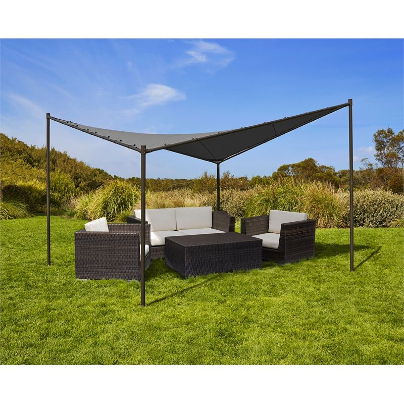 Find Coolaroo 4 X Charcoal Square Butterfly Semi Permanent Gazebo At Bunnings Warehouse Visit Your Local Store For The Widest Range Of Outdoor Living