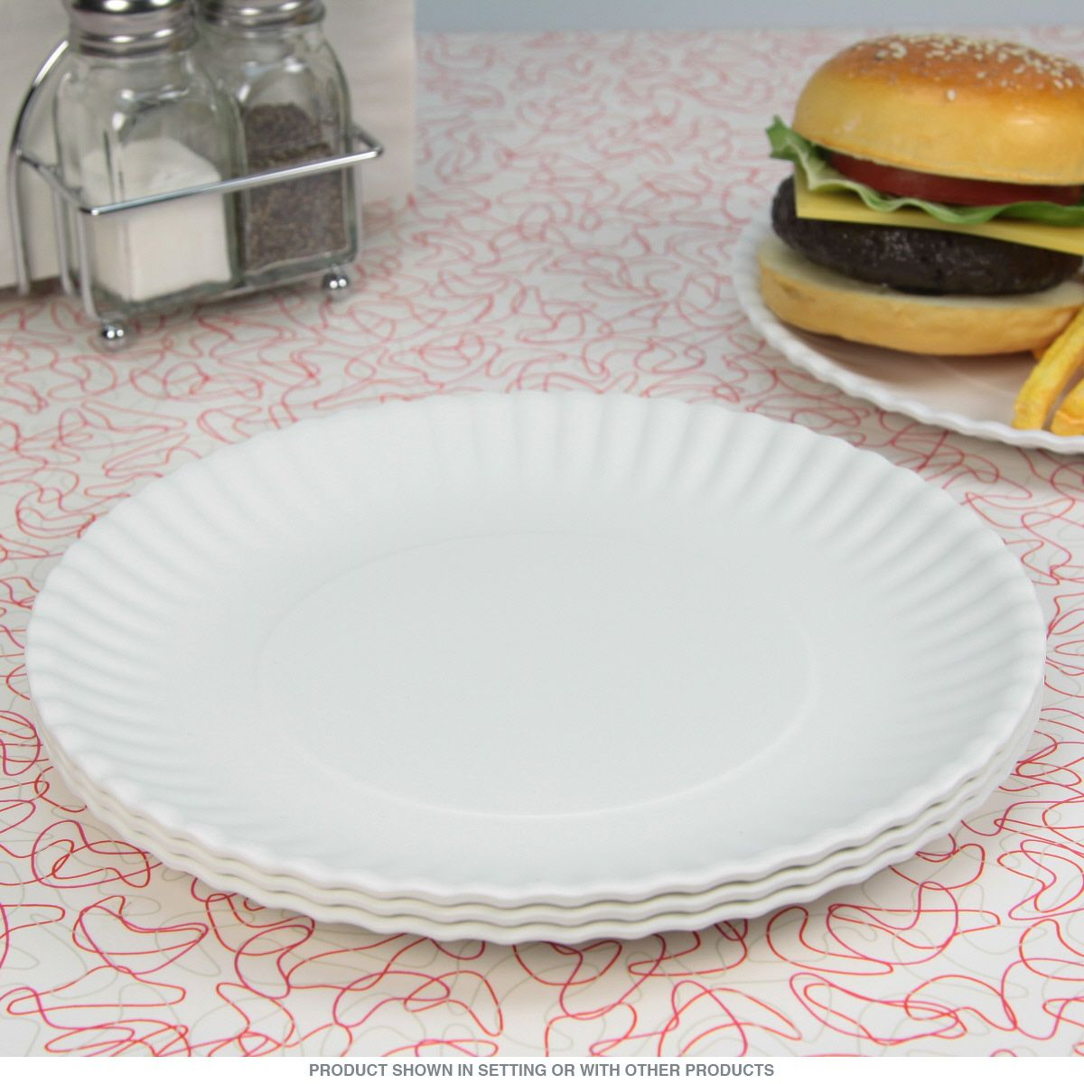 This set of 4 Washable Molded Paper Plates are made of washable reusable melamine. Dishwasher safe ... & Washable Melamine Paper Style Plate Set 9 in | Dishwashers ...