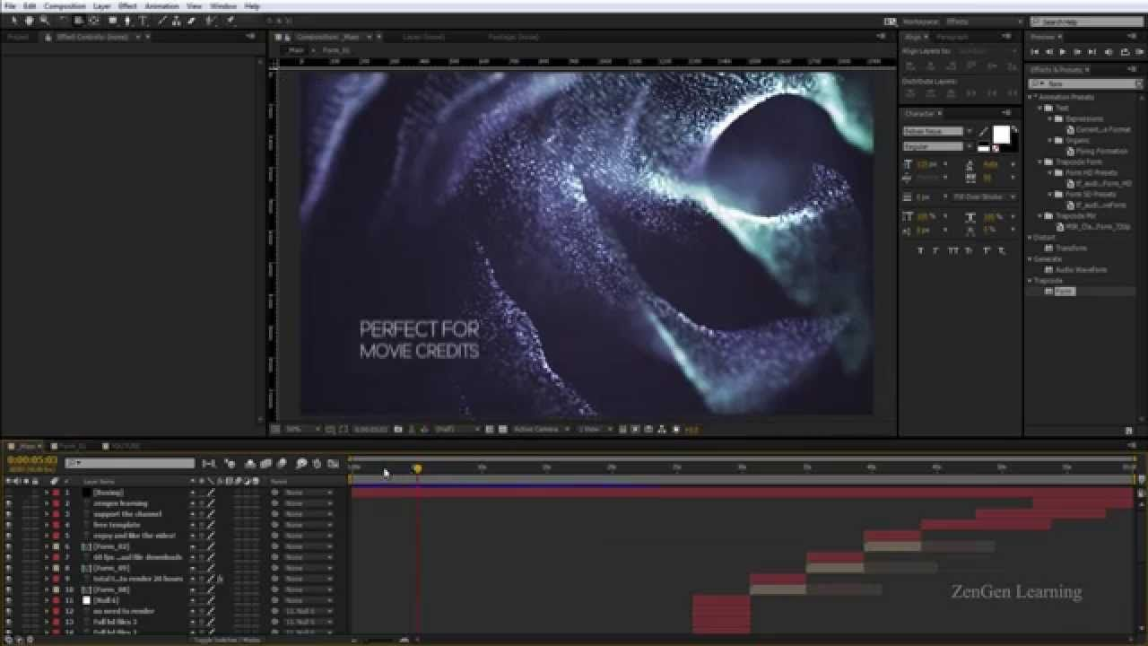 After effects motion graphics tutorial cinematic for After effect motion graphics templates