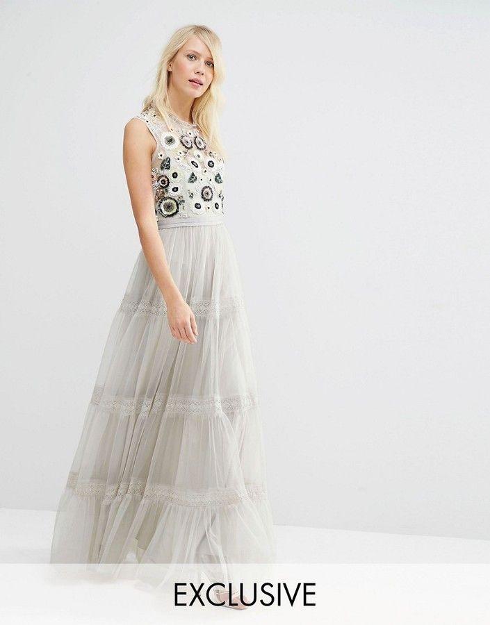 NEEDLE & THREAD Needle & Thread Tiered Woodland Maxi Dress
